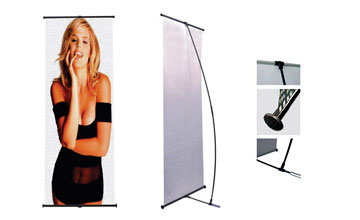 Our CLS 200 L-Stand Banner will deliver your message in a powerful way