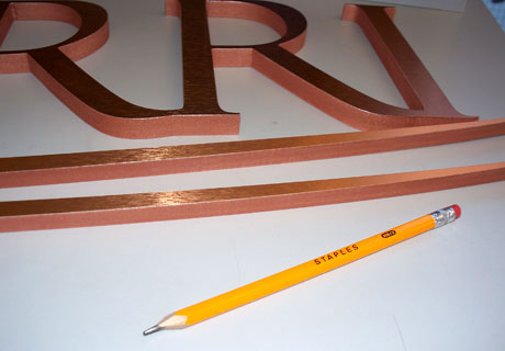 Dimensional Metal Laminated Letters