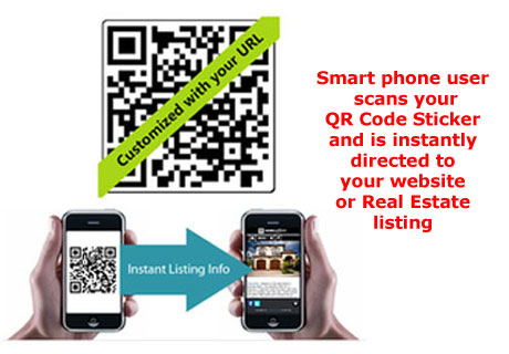 QR Stickers will lead directly to your Website.