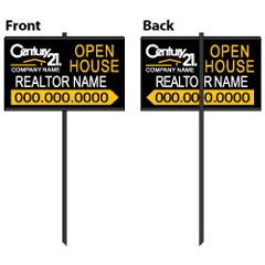 Real Estate Metal Stake Sign