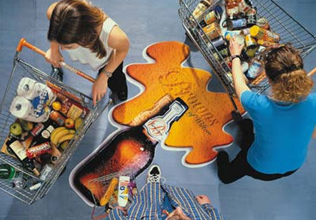 Floor Graphics will turn your floors into valuable marketing and advertising space!